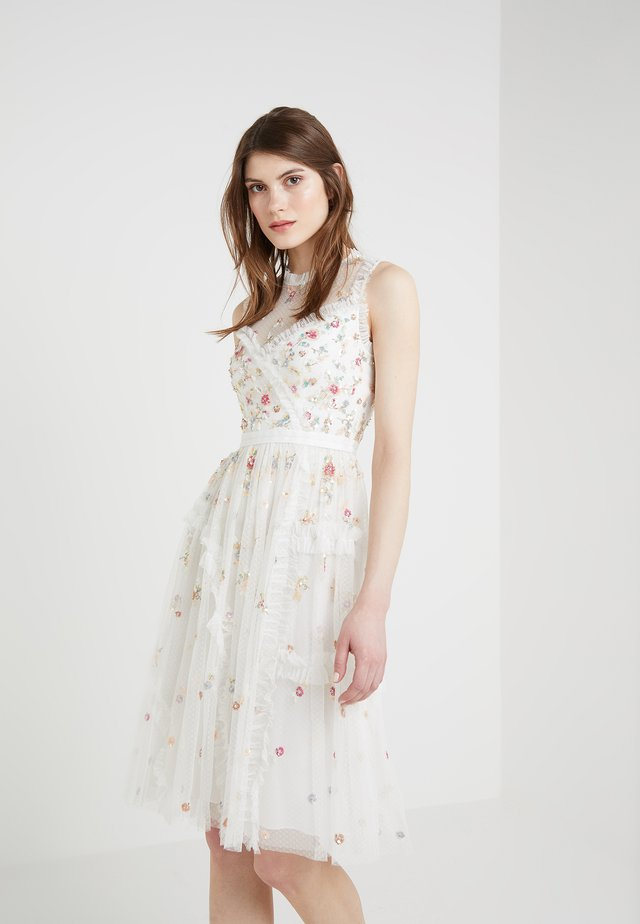 SHIMMER DITSY DRESS - Cocktailkleid/festliches Kleid - ivory