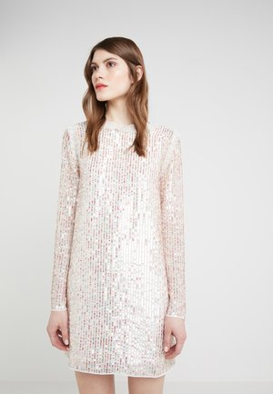 SHIMMER MINI DRESS - Cocktailklänning - ivory/rainbow