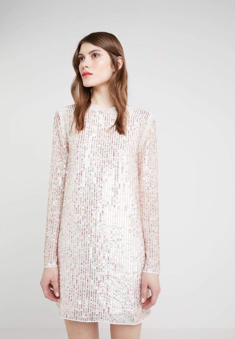 Needle & Thread - SHIMMER MINI DRESS - Koktejlové šaty/ šaty na párty - ivory/rainbow