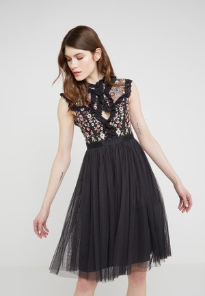 FLORAL ROMANCE BODICE DRESS - Cocktailkjoler / festkjoler - graphite