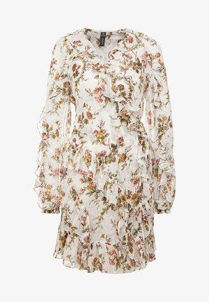 GARLAND PETAL WRAP DRESS - Cocktail dress / Party dress - ivory