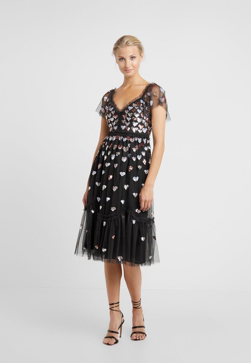 Needle & Thread - LOVEHEART DRESS - Vestido de cóctel - graphite