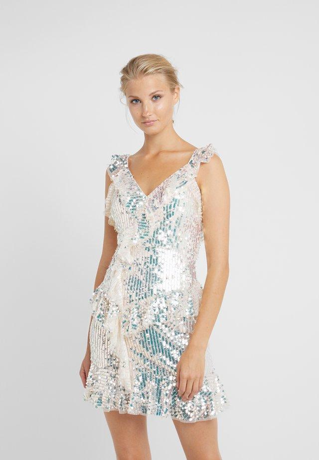 SCARLETT SEQUIN MINI DRESS - Cocktailkleid/festliches Kleid - champagne/silver