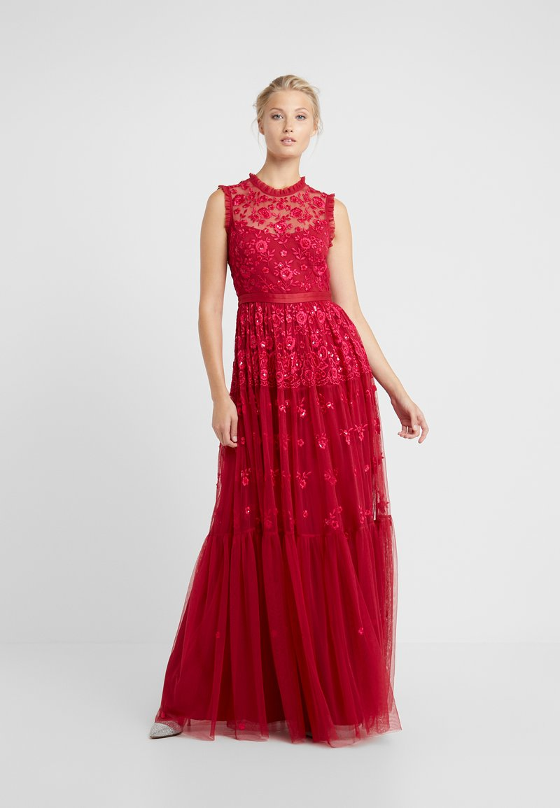 Needle & Thread - CLOVER GLOSS ASHLEY GOWN - Occasion wear - deep red