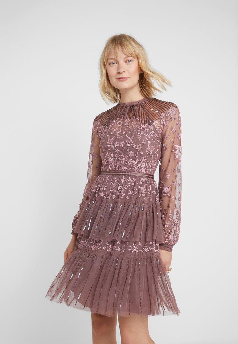 Needle & Thread - STARLING DRESS - Cocktailjurk - merlot