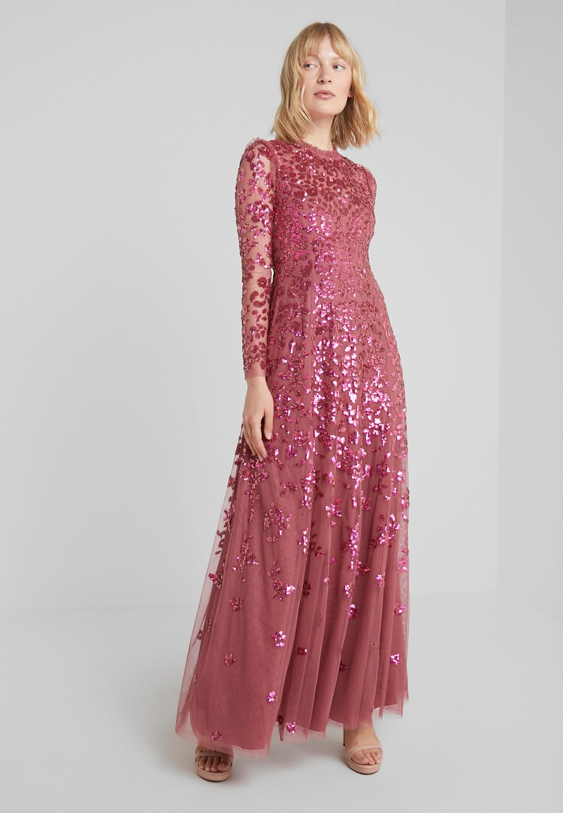 Needle & Thread - ROSMUND SEQUIN GOWN - Vestido de fiesta - raspberry