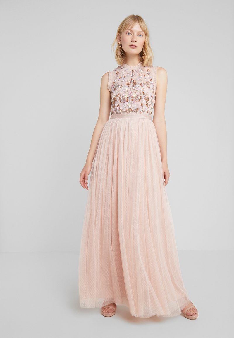 Needle & Thread - DARLING BODICE SLEEVELESS MAXI DRESS - Iltapuku - powder pink