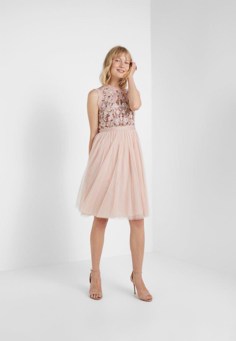 darling bodice sleeveless midi dress - cocktailkleid/festliches kleid -  powder pink