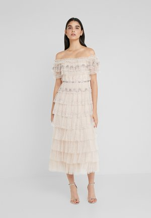 NEVE RUFFLE BALLERINA DRESS - Galajurk - pearl rose