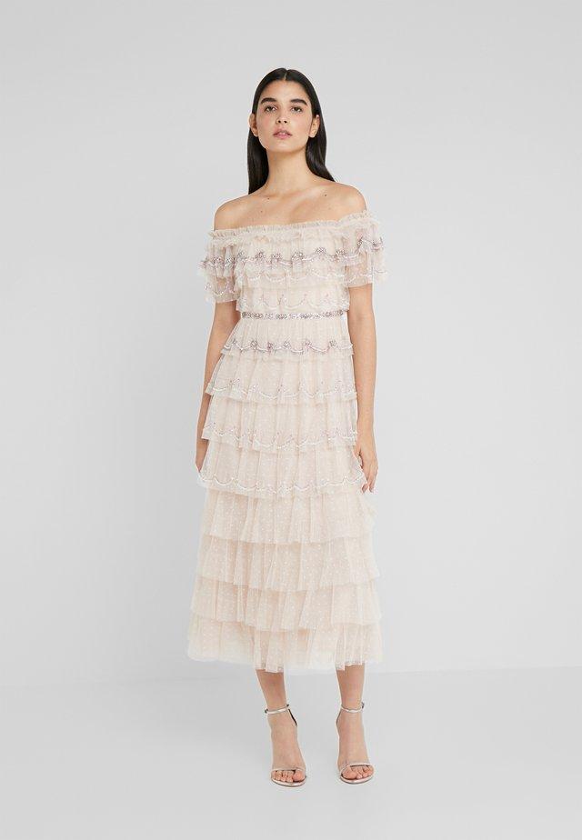 NEVE RUFFLE BALLERINA DRESS - Galajurk - pearl rose