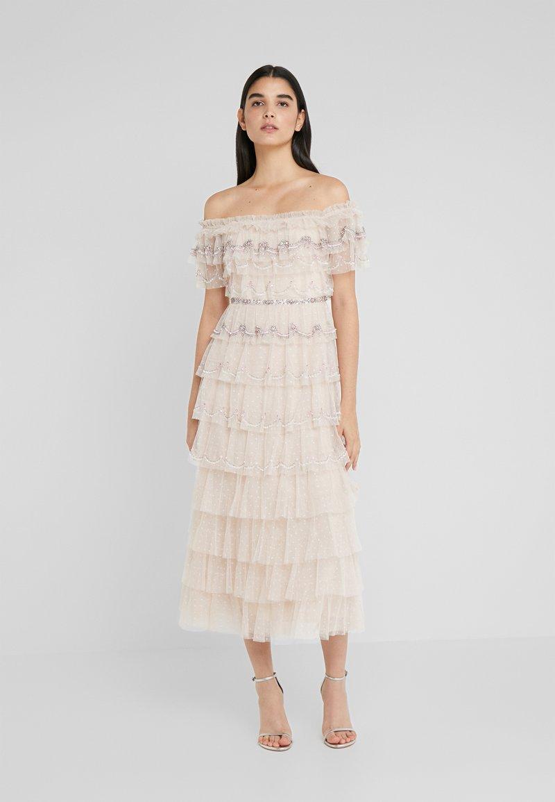 Needle & Thread - NEVE RUFFLE BALLERINA DRESS - Společenské šaty - pearl rose