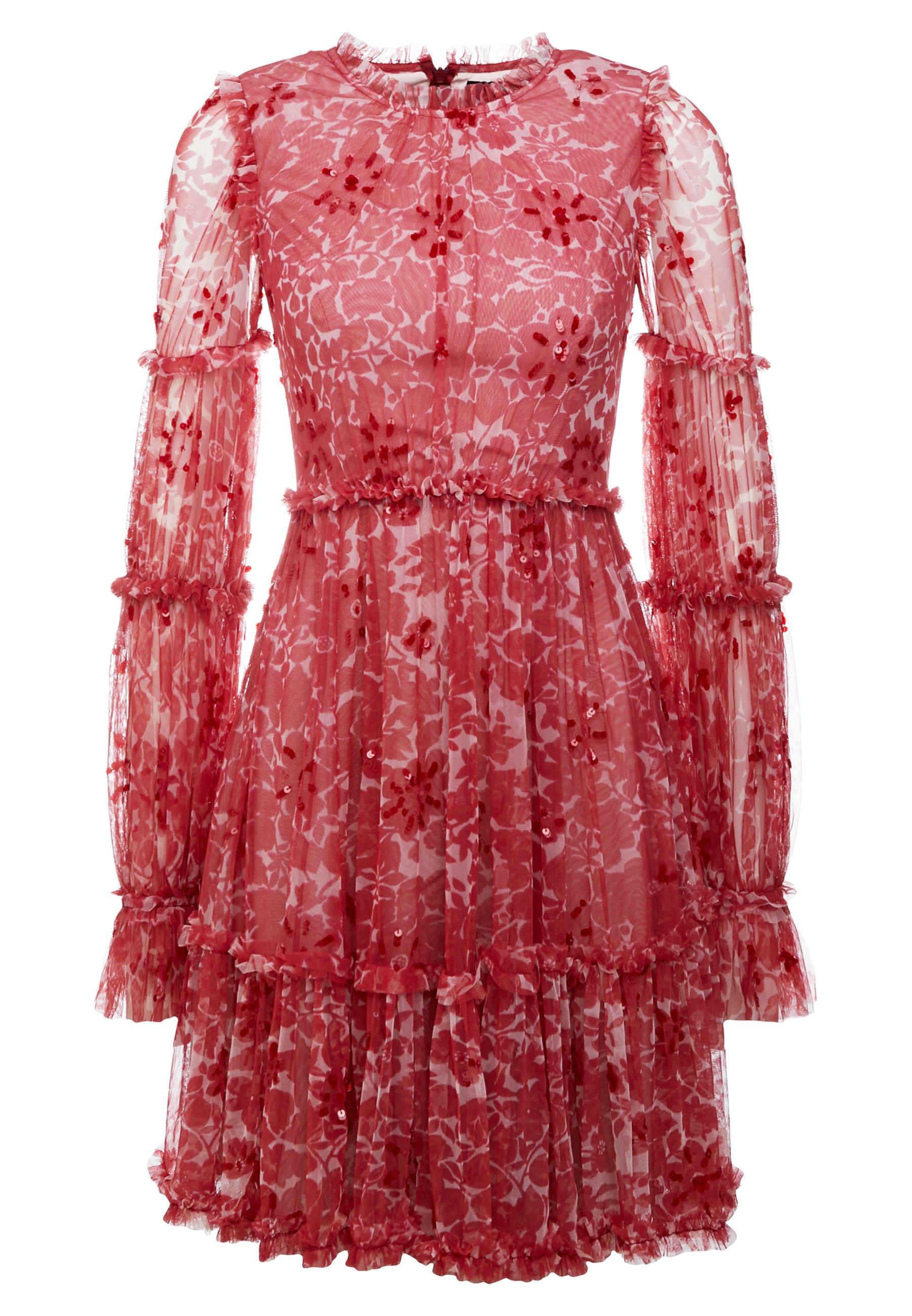 Needle & Thread ANYA EMBELLISHED DRESS - Sukienka letnia - cherry red