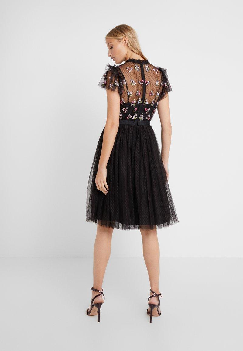 rococo bodice midi dress - cocktailkleid/festliches kleid - ballet black