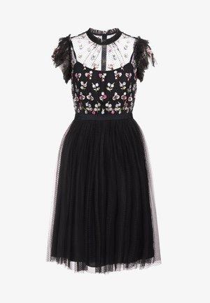 ROCOCO BODICE MIDI DRESS - Sukienka koktajlowa - ballet black