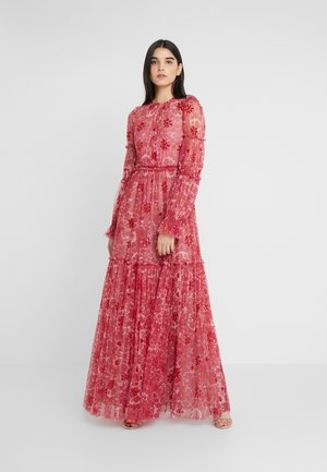 ANYA EMBELLISHED GOWN - Maxiklänning - cherry red
