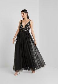 Needle & Thread - NEVE EMBELLISHED BODICE MAXI DRESS - Ballkjole - ballet black - 1