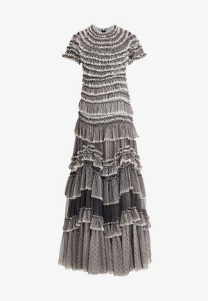 WILD ROSE RUFFLE GOWN - Společenské šaty - graphite/champagne