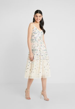 WILDFLOWER SEQUIN MIDI DRESS - Sukienka koktajlowa - champagne