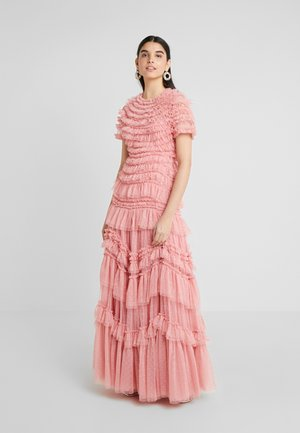 WILD ROSE RUFFLE GOWN - Occasion wear - sun blush