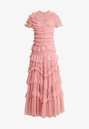 WILD ROSE RUFFLE GOWN - Společenské šaty - sun blush