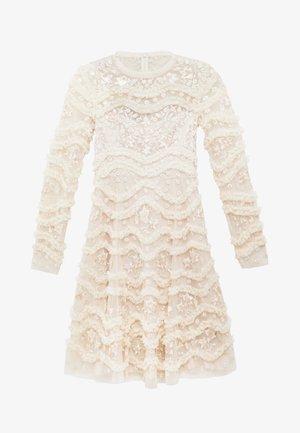 RUFFLE BLOOM DRESS - Vestito elegante - pearl rose/champagne