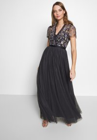 Needle & Thread - PRARIE FLORA BODICE MAXI DRESS - Ballkjole - graphite - 0