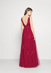Needle & Thread - PETUNIA GOWN  EXCLUSIVE - Iltapuku - deep red - 2