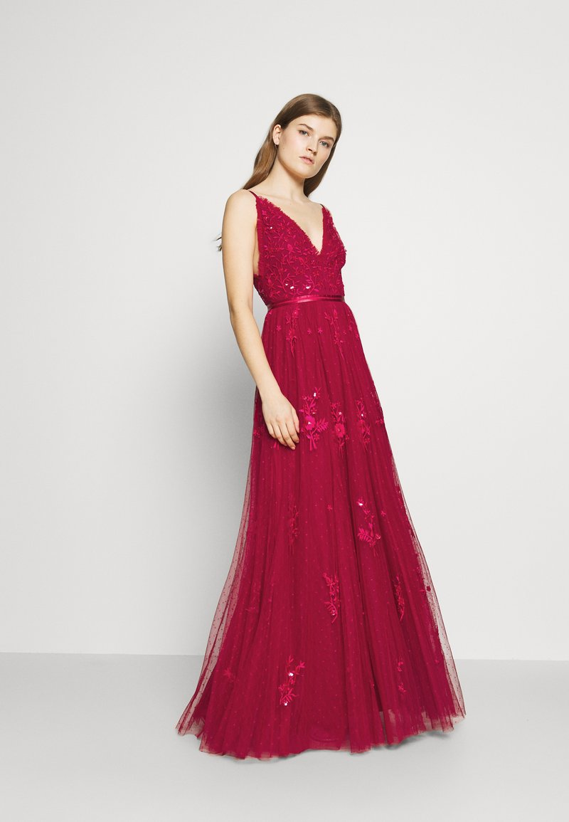 Needle & Thread - PETUNIA GOWN  EXCLUSIVE - Iltapuku - deep red