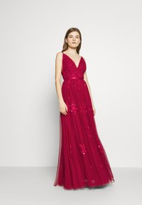 Needle & Thread - PETUNIA GOWN  EXCLUSIVE - Iltapuku - deep red - 1