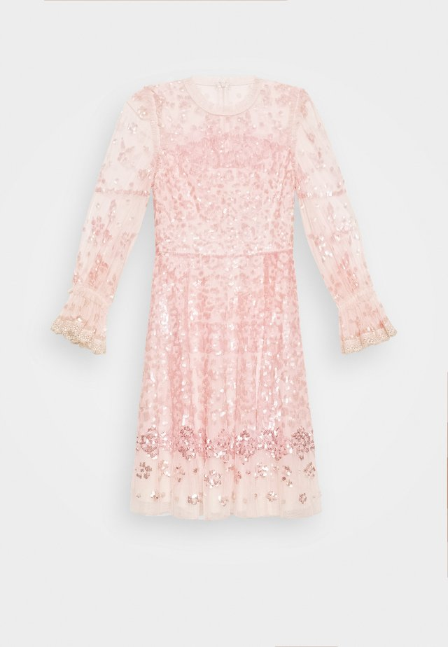 PATCHWORK DRESS - Cocktail dress / Party dress - ballet slipper/pink
