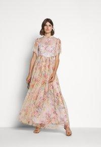 Needle & Thread - FLORAL DIAMOND BODICE DRESS - Vestido de fiesta - pink - 1
