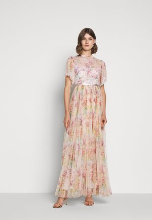 FLORAL DIAMOND BODICE DRESS - Galajurk - pink