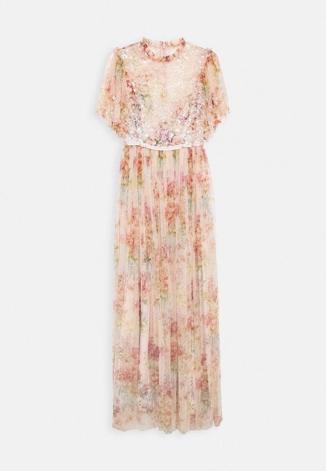 FLORAL DIAMOND BODICE DRESS - Occasion wear - pink