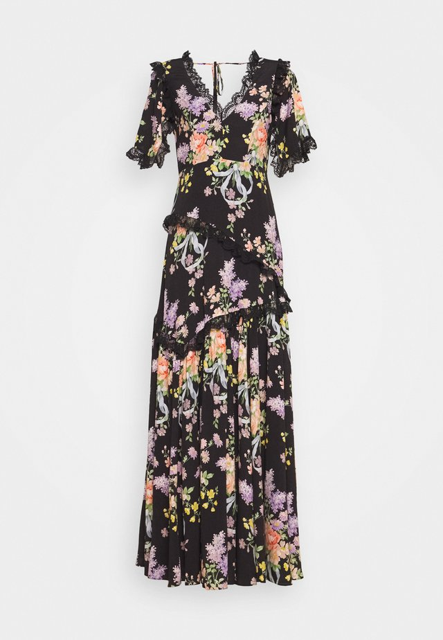 FLORAL DIAMOND ELSA V NECK GOWN - Maxikleid - graphite