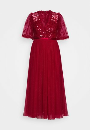 PATCHWORK BODICE BALLERINA DRESS EXCLUSIVE - Cocktail dress / Party dress - deep red