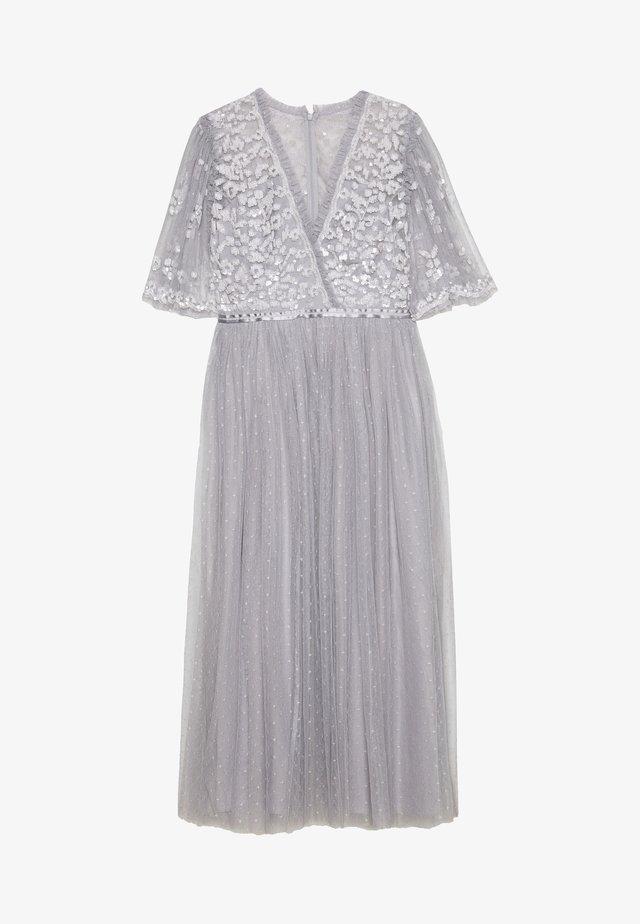 PATCHWORK SEQUIN BODICE BALLERINA DRESS EXCLUSIVE - Cocktail dress / Party dress - dusk blue