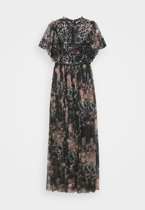 FLORAL DIAMOND BODICE MAXI DRESS - Occasion wear - grey