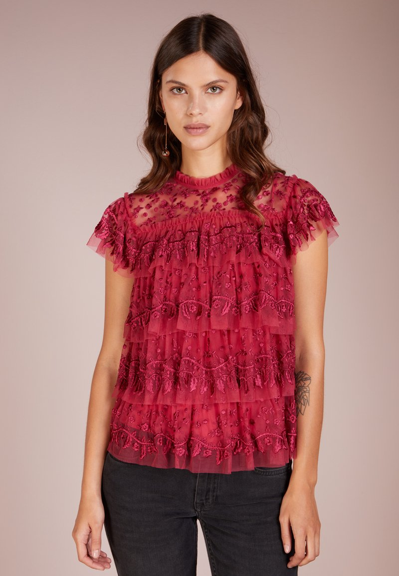 Needle & Thread - LAYERED LACE - Blouse - red