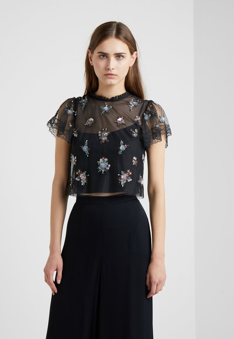 Needle & Thread - Sequin - Camicetta - washed black