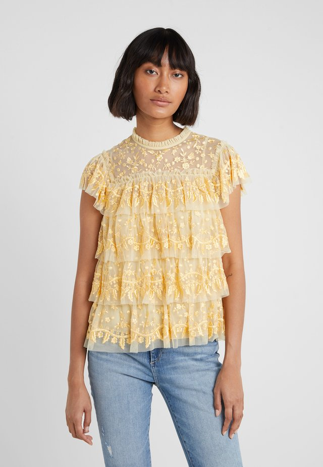 ANGELICA LACE TOP - Bluse - washed yellow