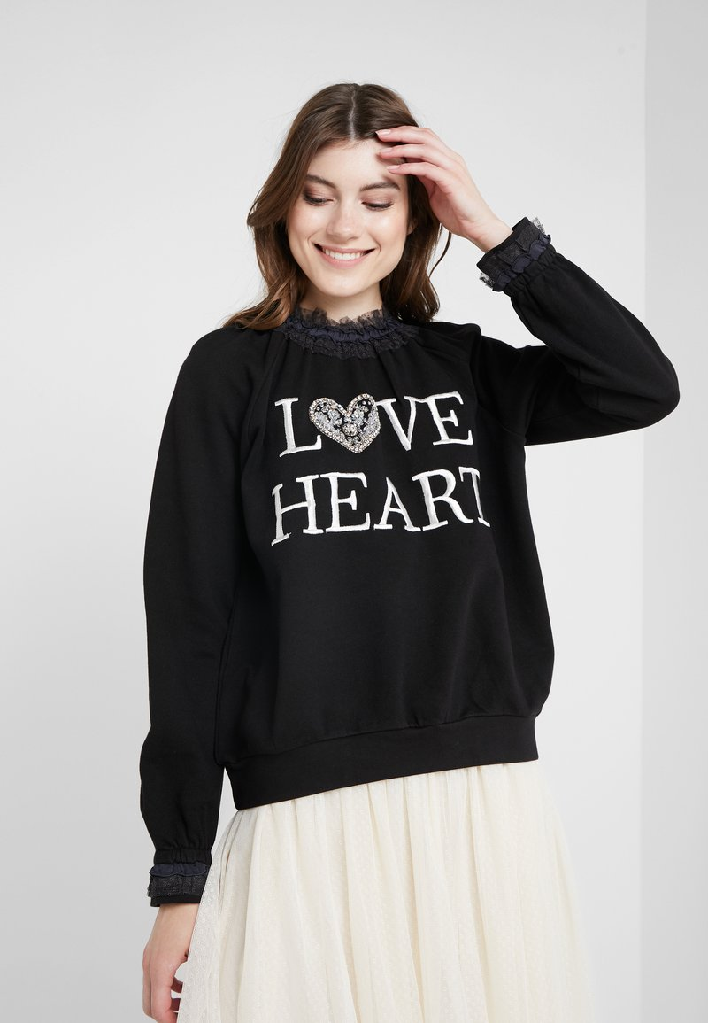 Needle & Thread - LOVE HEART SWEAT - Sweater - graphite