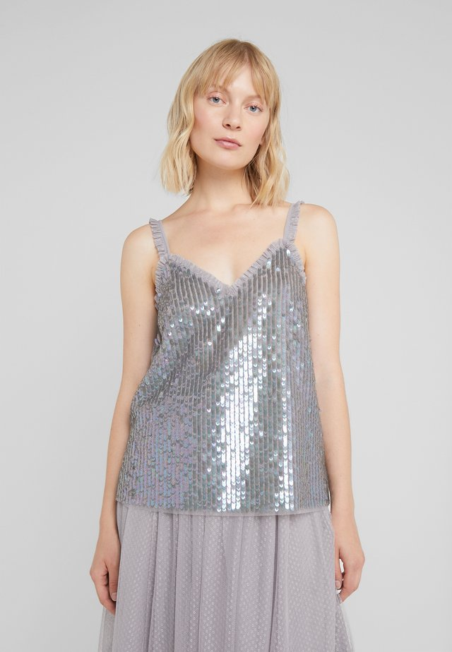 SCARLETT SEQUIN  - Top - orchid