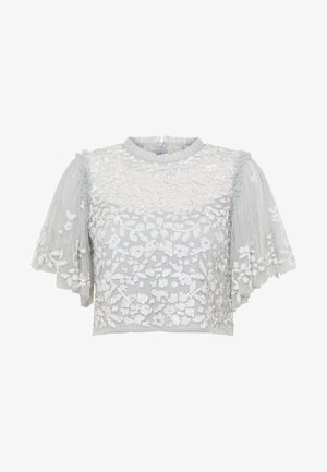 HONESTY FLOWER TOP - Bluzka - blue