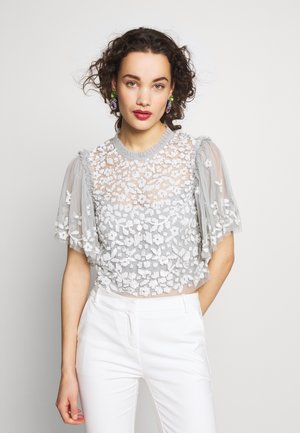 HONESTY FLOWER TOP - Camicetta - blue