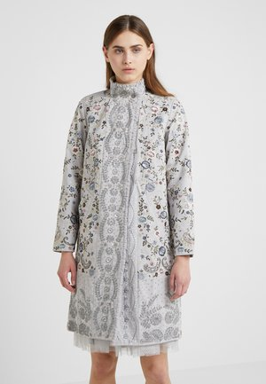 ELLA PATCHWORK PANELLED COAT - Villakangastakki - dusk blue
