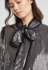 Needle & Thread - GLOSS SEQUIN BOW JACKET - Chaqueta fina - graphite/silver