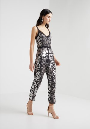FLORAL GLOSS - Jumpsuit - graphite/silver