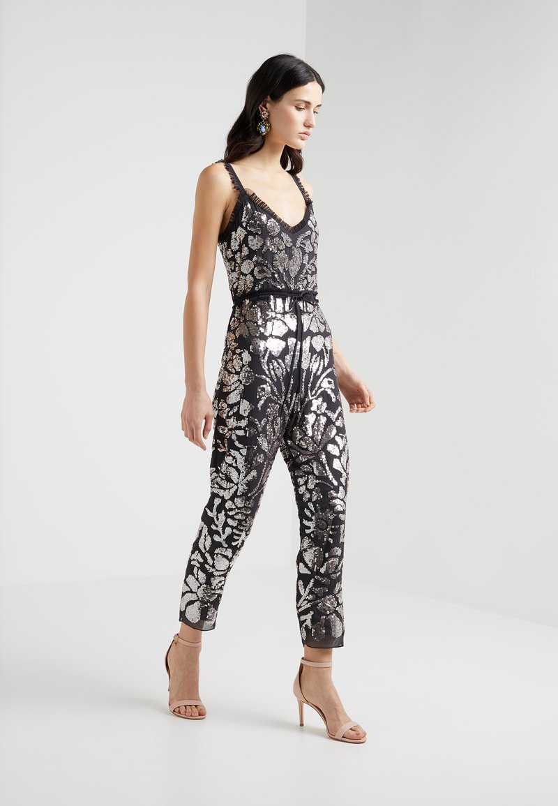 Needle & Thread - FLORAL GLOSS - Jumpsuit - graphite/silver