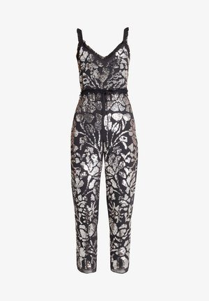 FLORAL GLOSS - Jumpsuit - graphite/silver