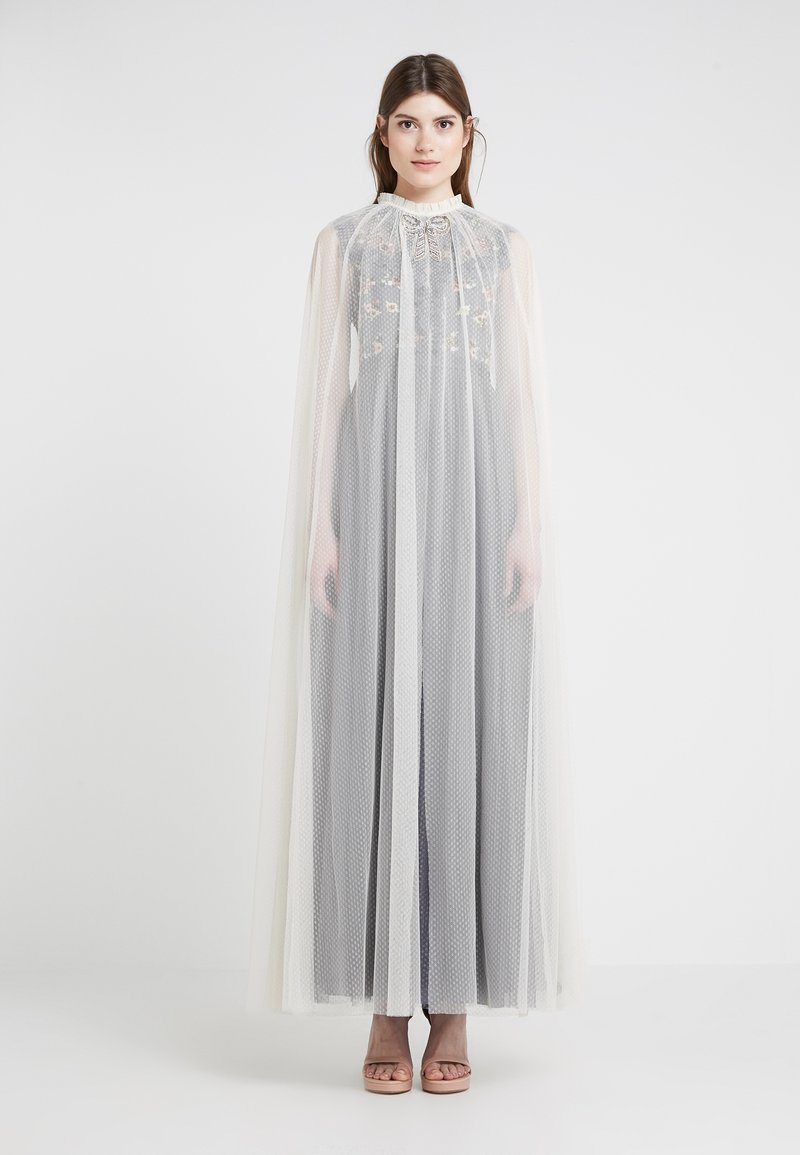 Needle & Thread - EMBELLISHED BOW MAXI CAPE - Ponczo - champagne